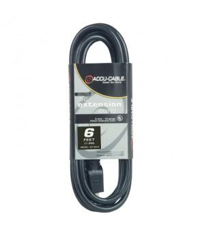 Accu Cable EC163-6 Black 16 Gauge 6 Ft Extension Cable