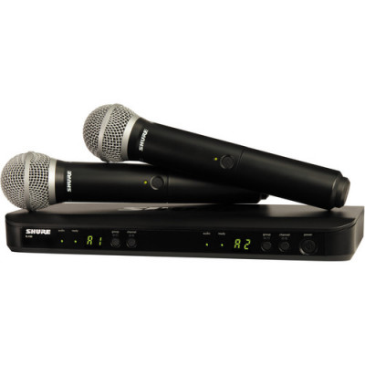 Shure BLX288/PG58 Dual-Channel Wireless System with 2 PG58 Handheld Microphones
