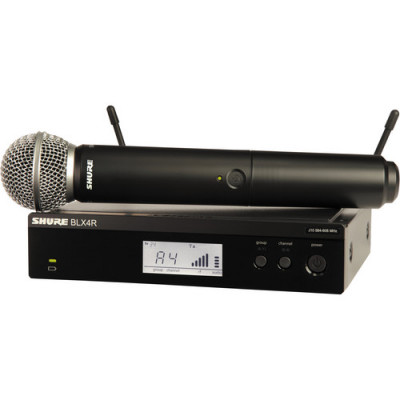 Shure BLX24R/SM58 Wireless System with Rackmountable Receiver & SM58 Microphone