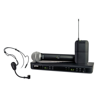 Shure BLX1288/PG30 Dual Wireless System with PG30 Headset & PG58 Handheld Mics