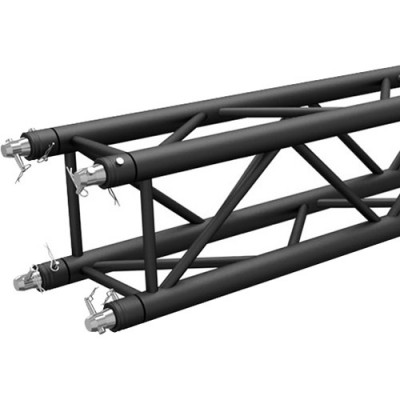 Global Truss Matte Black Powder-Coated Square Truss Segment (8.2')