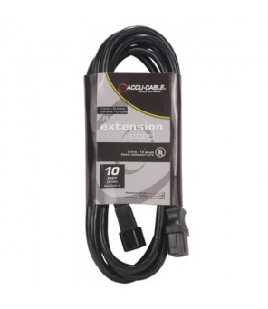 Accu Cable ECCOM-10 – Power Cable, IEC M to F, 10'