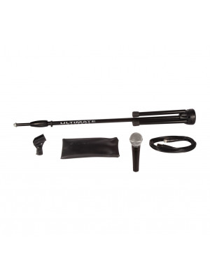 Shure SM58-CN Dynamic Vocal Microphone Bundle with Cable & Stand