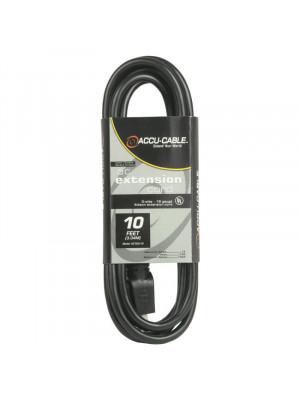 Accu-Cable EC163-10 10 Feet 16/3 Ga Edison Extension