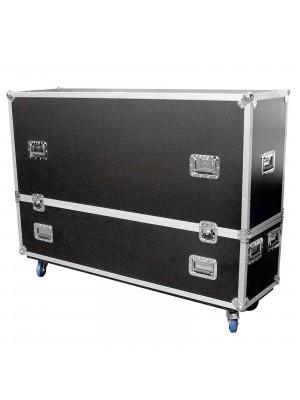 "ProX XS-LCD5565WX2 Universal Dual 55""/65"" LCD LED TV ATA Flight Case"