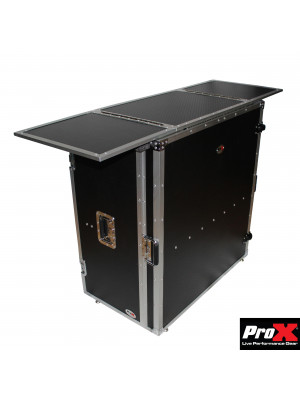 ProX XS-DJSTN Transformer Series DJ Folding Workstation Table-Fold Away W-Wheels