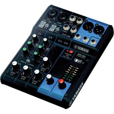 Yamaha MG06 6-Channel Compact Stereo Mixer