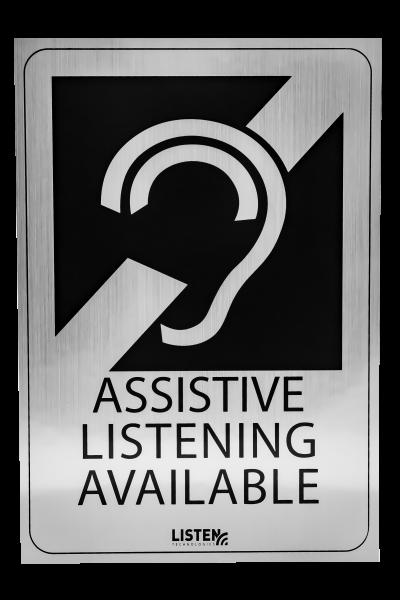 Listen Technologies LA-304 Assistive Listening Notification Signage Kit