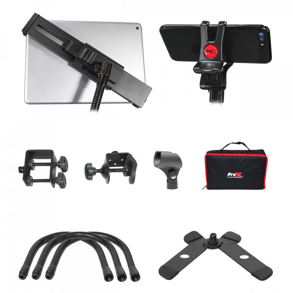 ProX X-MOBITCP20 Mobi-Buddy Hands Free Mobile And Tablet Clamp Kit-Stand & Case