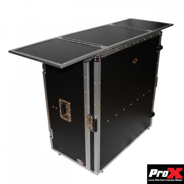 ProX XS-DJSTN Transformer Series DJ Folding Workstation Table-Fold Away W-Wheels