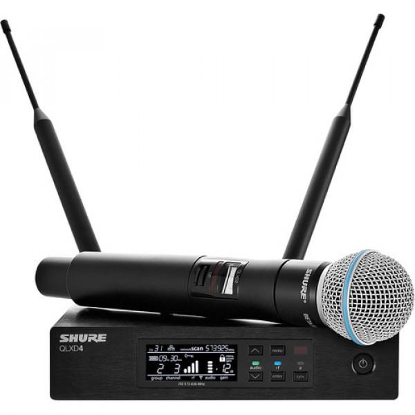 shure qlxd24 b58 handheld wireless microphone system wireless live sound pro sound. Black Bedroom Furniture Sets. Home Design Ideas