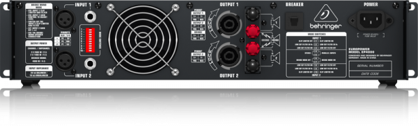 Behringer EP4000 Europower 2 x 1400-Watts Power Amplifier
