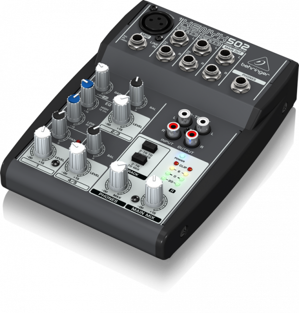 behringer xenyx 502 5 channel compact audio mixer install mixers install sound pro sound. Black Bedroom Furniture Sets. Home Design Ideas
