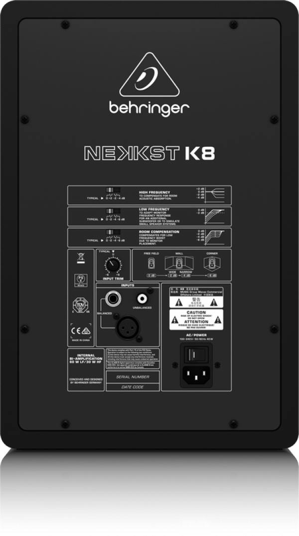 "Behringer NEKKST K8 Audiophile Bi-Amped 8"" Studio Monitor with Advanced Waveguid"